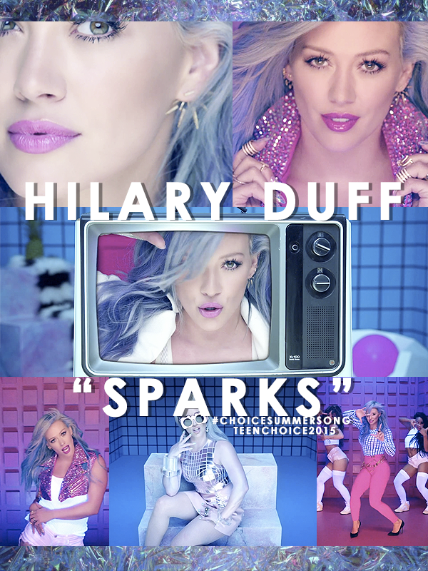 "Please RT! My #TeenChoice nominee for #ChoiceSummerSong is ""SPARKS"" by @HilaryDuff! http://t.co/tvxA6i2aug http://t.co/gmtwTD5neo"