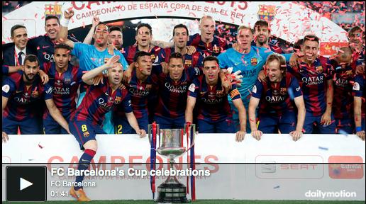 RT @FCBarcelona: [VIDEO] FC Barcelona celebrate Spanish Cup title: