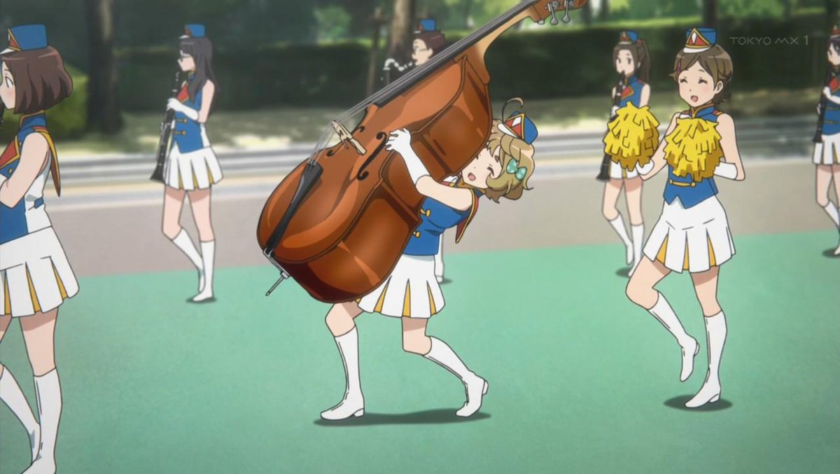 I wish I could march with my contrabass…緑もコンバス持って行進したかったなぁ…川