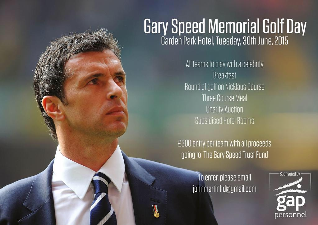 Pls RT - Gary Speed memorial golf day @cardenpark on June 30th - tweet me for info http://t.co/qxOUY5y4J9