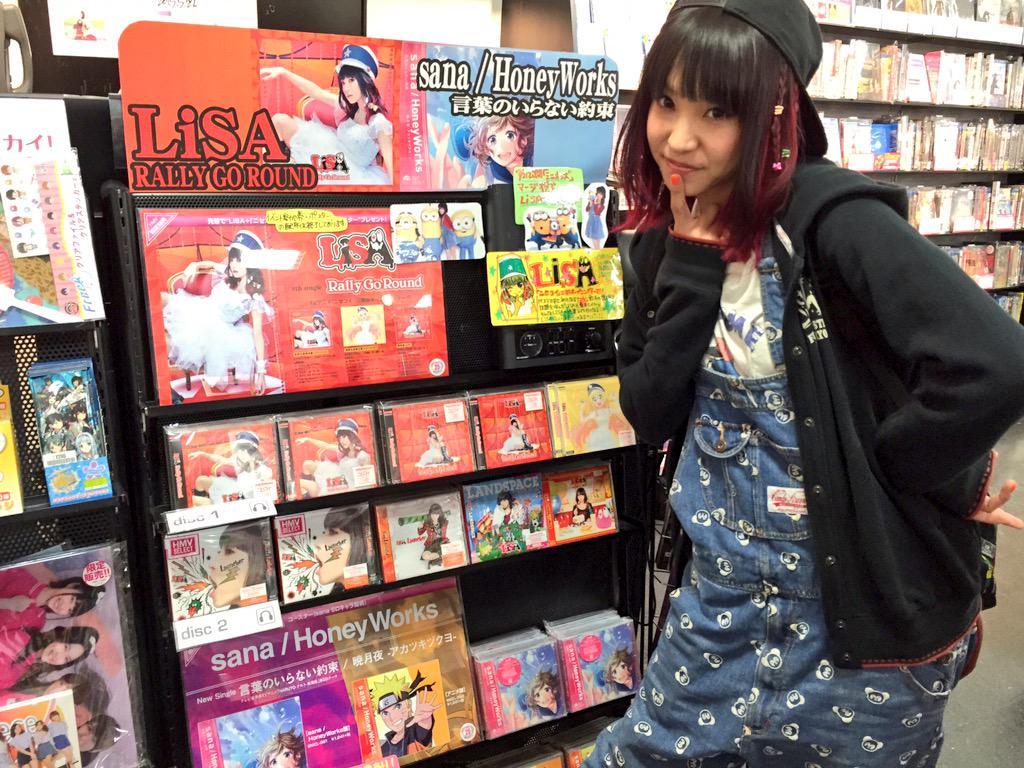 HMV札幌ステラプレイス店さまに、足跡残してきました!全国握手会企画「47杯いただきますっ」の時のサイン色紙も飾っていただいてます!是非見に行ってみてください! #ラリゴー http://t.co/PNYquunVPa