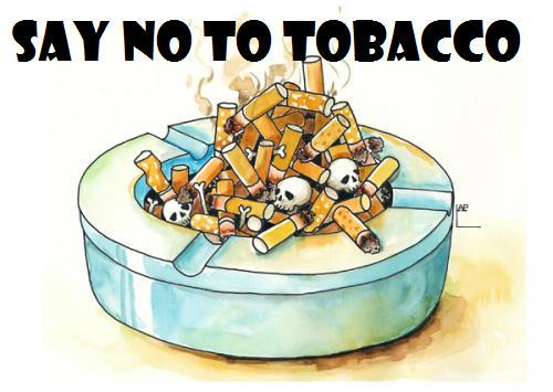 A cigarette is a pipe with a fire at one end and a fool at the other. #SayNoToTobacco http://t.co/l3zOaadnsW