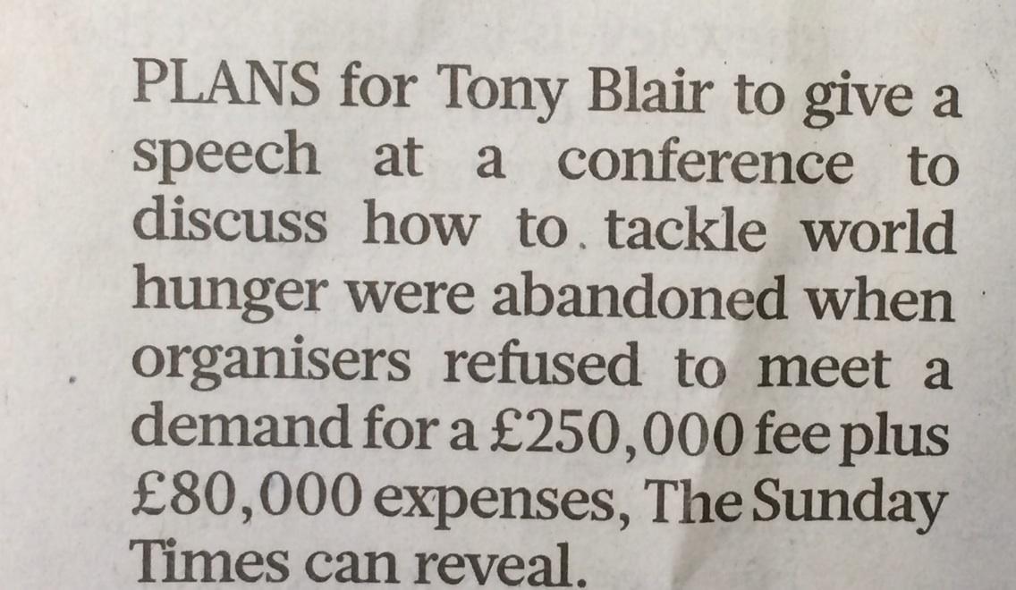Blair's £16,500 a minute speaking fee http://t.co/Cfs6HHwowm
