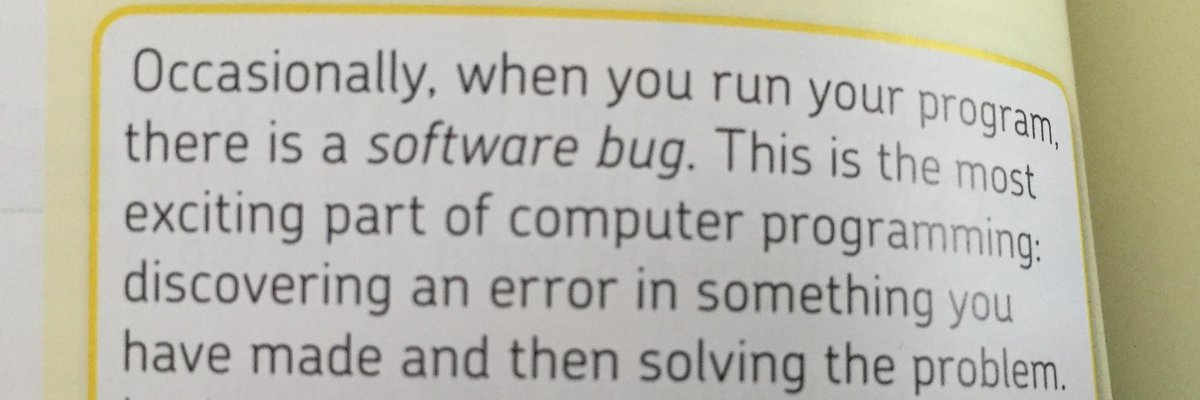 """""""the most exciting part of computer programming"""" http://t.co/5aapjXmNZt"""