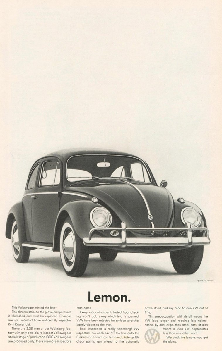 Volkswagen type is in the news. No comment yet, but we added more gems to the iconic '60s ads: http://t.co/cipWHrTQFI http://t.co/EFkxAtQR8S