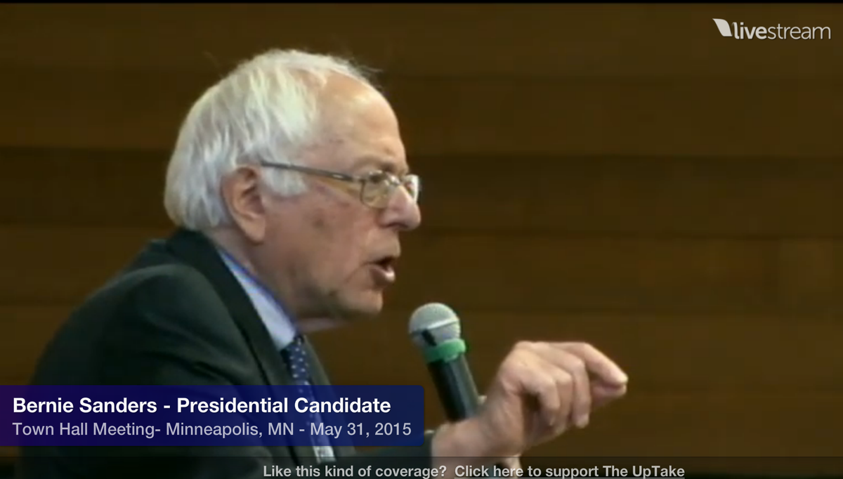 """""""Enough is enough, we want that wealth to come back to the working families"""" @SenSanders Live: http://t.co/NRq23j5U49 http://t.co/stEmKrr60T"""