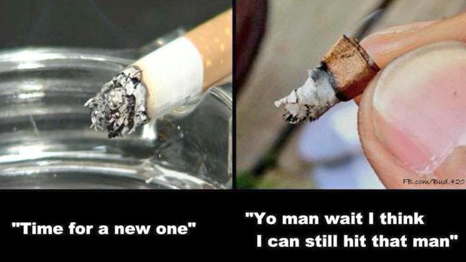 RT @stillblazingtho: Cig Smoker vs. Weed Smoker http://t.co/S525KVrp9R