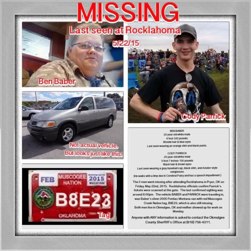 Let's help find these guys. Please retweet. #teamcodyandben http://t.co/ePa38MkNLn