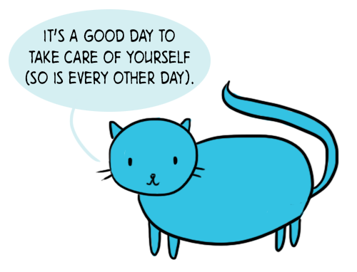 Wise words from this self-care cat http://t.co/SUndHu66Jh
