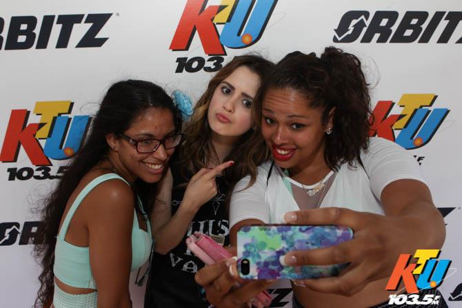But seriously. HOW CUTE is #TeenChoice favorite @lauramarano taking selfies with fans at #KTUphoria!? #LauraMarano http://t.co/OlB32hxS1c