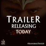 RT @Shobu_: Today is a BIG day for us!  Hope you enjoy Trailer in theatre near you or online in the evening!! #BaahubaliTrailer