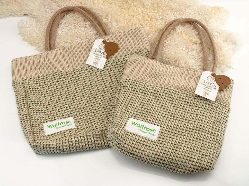 CFW are proud to support @Waitrose brand new re-usable bag, made with 100% British wool http://t.co/VUIo1NFwoe http://t.co/N2dcmMfEjr