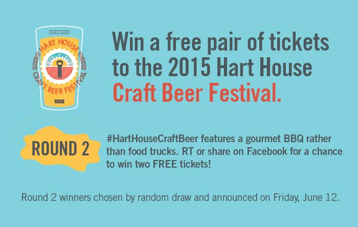 #HartHouseCraftBeer features a gourmet BBQ rather than food trucks. RT for a chance to win two FREE tickets! http://t.co/Y6GxNJ3jjq