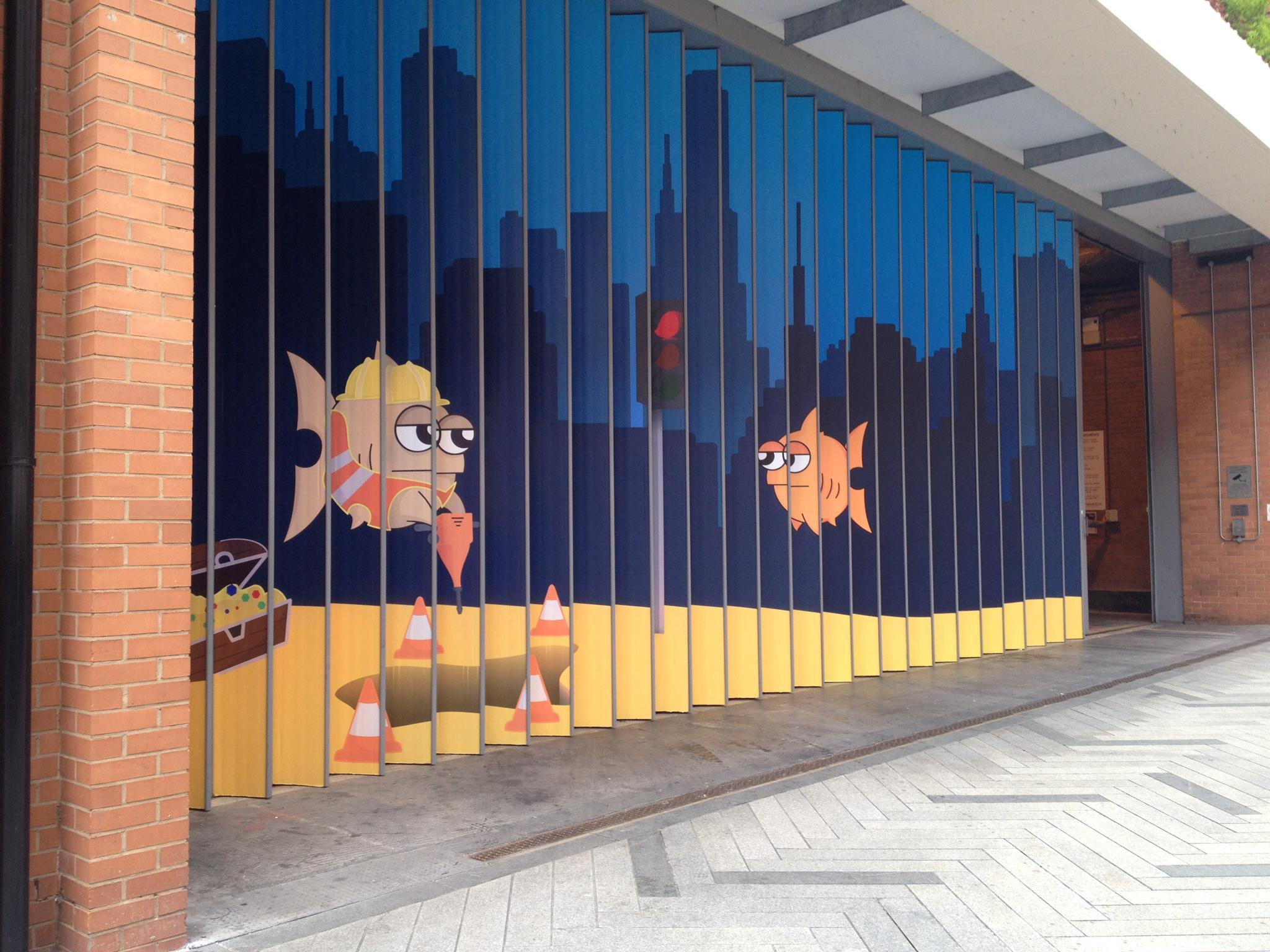 Have you seen the amazing #FishCity by #MarcusAlbon that is currently located opposite @BillsRestaurant @Highcross http://t.co/annaEaiql4