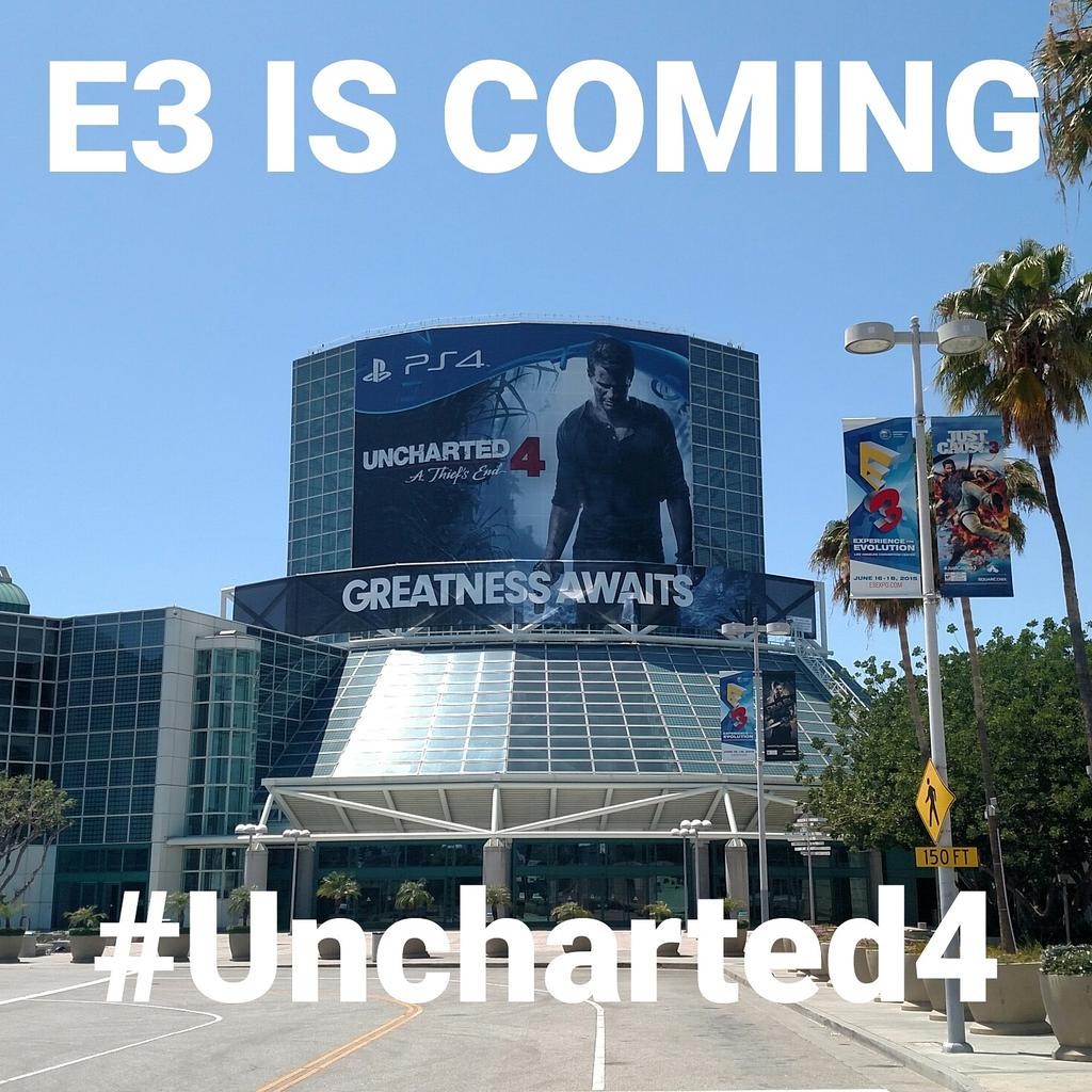 #E3 is coming. #Uncharted4 http://t.co/AJwIg5C1P6