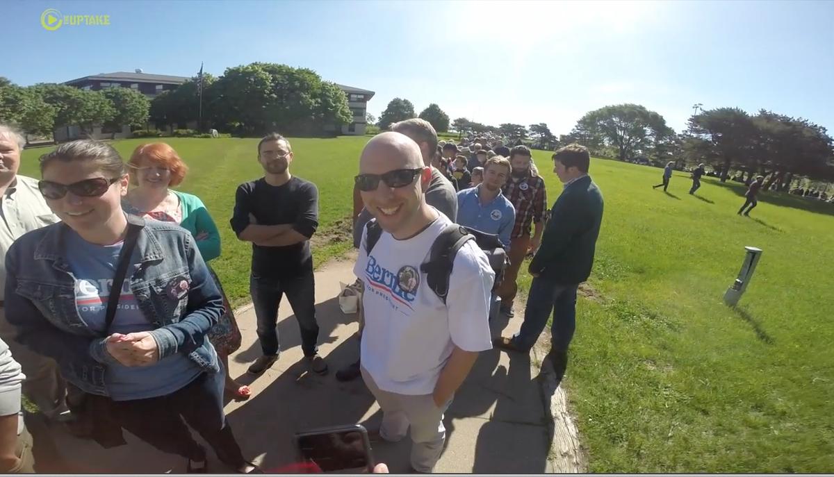 #BernieSanders -Why Did Thousands Stand In Line To Hear Him? VIDEO: http://t.co/JU2dZVQpSa @SenSanders http://t.co/lmc44NlFRB