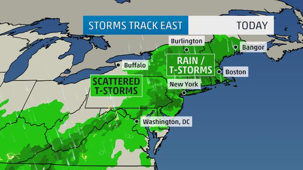 A rainy start for the northeast with the potential for more flooding. More on @AMHQ on @weatherchannel http://t.co/5qrCr5H2E3