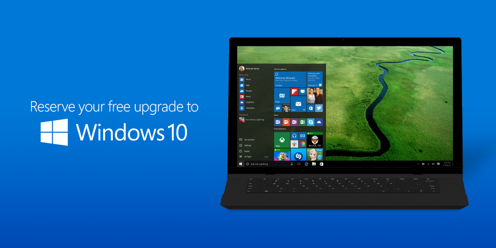 Free & easy. Reserve your #Windows10 upgrade today. Learn more: http://t.co/8MMDKICNXy http://t.co/QDrYtkRiCx