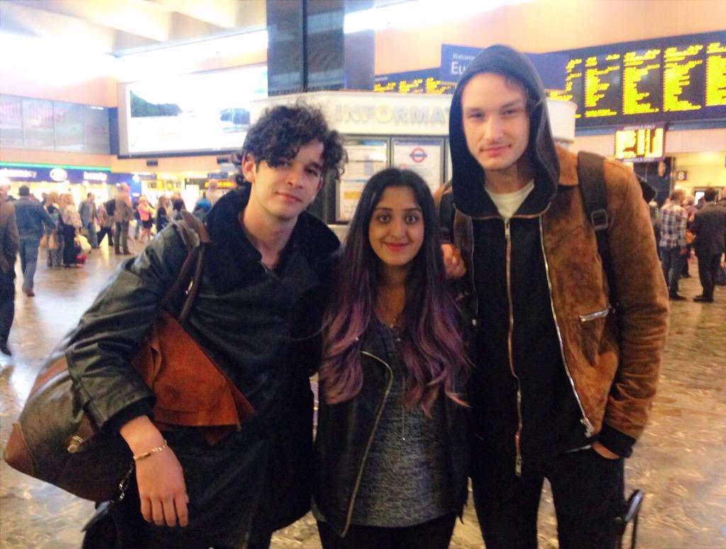 Arrived back in London and bumped into Matty and George