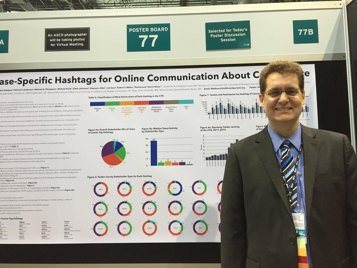 @subatomicdoc disease specific hashtags for online communication about cancer #asco15 http://t.co/zwJWZSjczU
