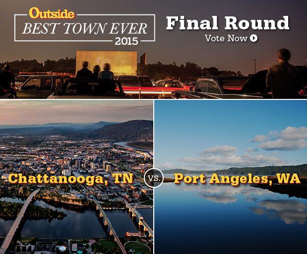 @outsidemagazine's BEST TOWN EVER final round: #Chattanooga or #PortAngeles? VOTE NOW @ http://t.co/bPFIYOBB6m http://t.co/4hVn6d0ZKr