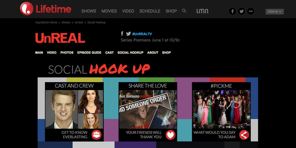 You've never seen anything like #UnREALtv! Tonight 10pm @LifetimeTV. Social hub by #def6: http://t.co/9OurHkjHzx http://t.co/pBCRiL7zNe