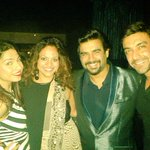 Fab evening last nite with a super fab guy!! Happy tappy birthday my brother @ActorMadhavan #HugeHug http://t.co/ig4HYpBtew