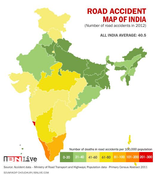 interactive road accident map of india: deaths and accidents per ...
