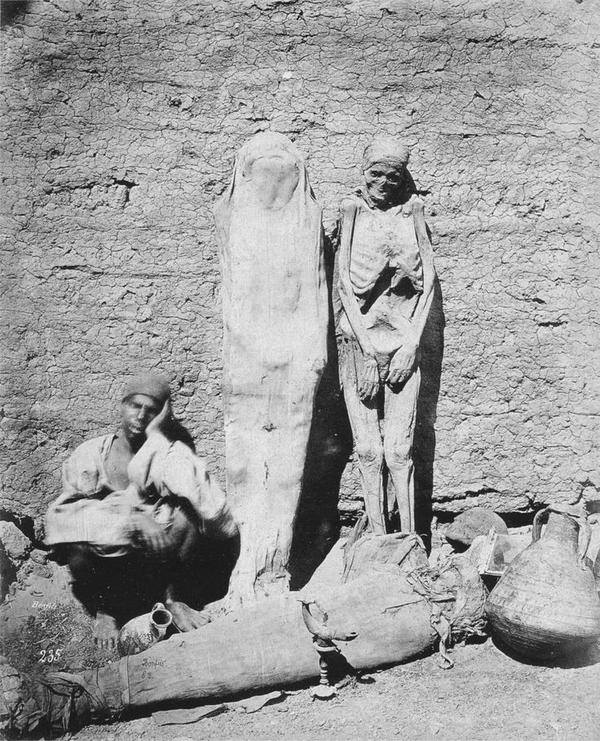Man selling mummies, Egypt 1875 http://t.co/yDLTF4qS8W