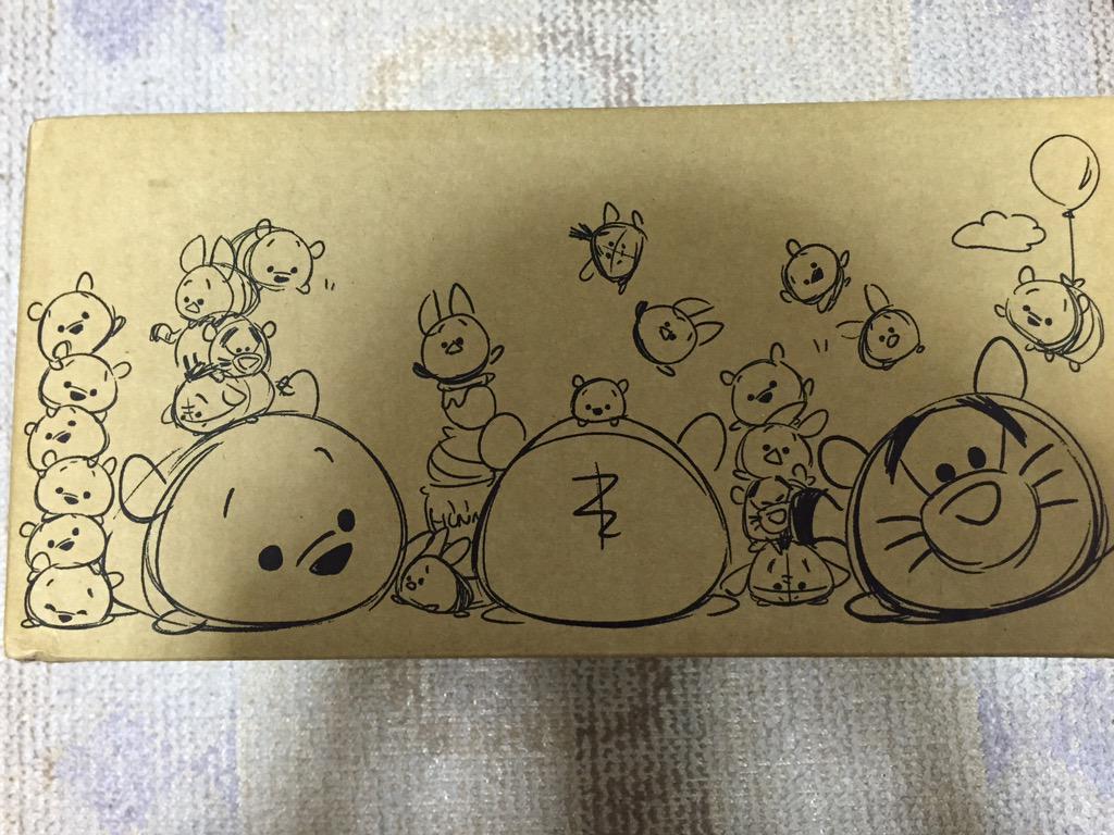 ストアの通販の段ボールがツムツムデザインにかわってる〜〜〜かわゆ! http://t.co/MjpsOo4fK4
