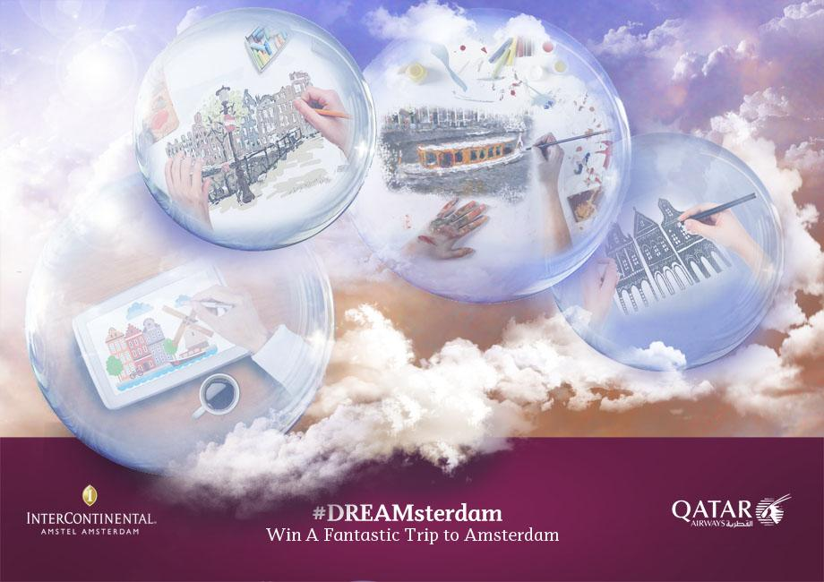 Draw your dream holiday in Amsterdam and win with QatarAirways.