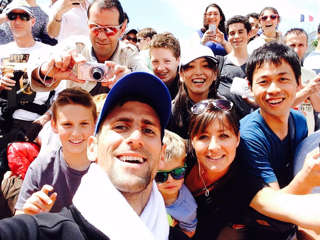 Selfie Time with Novak during his training