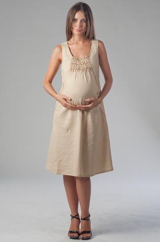 Льняной сарафан для беременных 15