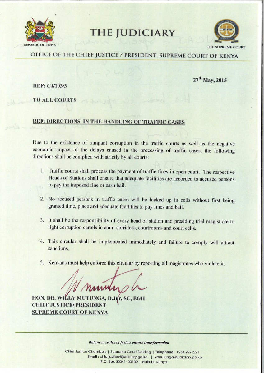 Here is the circular that should streamline handling of traffic cases much to the convenience of motorists. #Retweet http://t.co/wNFUv8NM8F