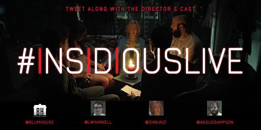 Prepare for Insidious: Chapter 3. Watch Insidious w the cast tonight @AMC_tv 10:30 PM EST. Tweet along #InsidiousLive http://t.co/7Csi3rivVZ