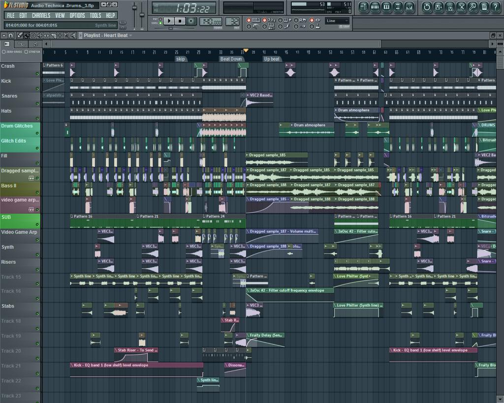Just cus ur fruity loops project looks like this doesn't mean it's a sick beat.