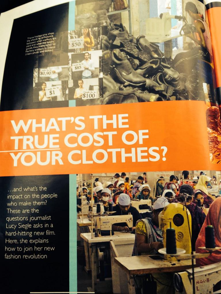 Check out 3 pages from me and @truecostmovie #sustfash #ethical issues in this week's grazia @Grazia_Live http://t.co/Cm93lRJgHv