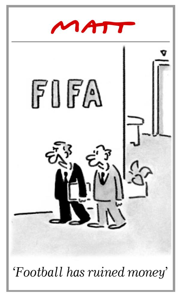matt  tomorrow u2019s matt cartoon in the  telegraph   u2018football has ruined