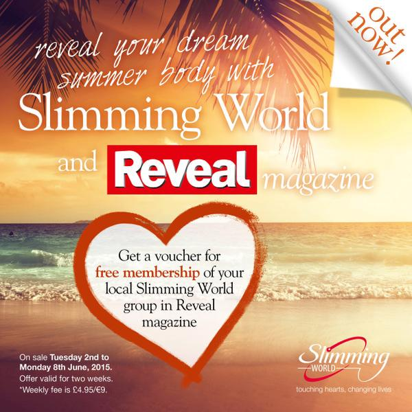 Join SlimmingWorld for FREE! Find out how in this week's Reveal magazine!