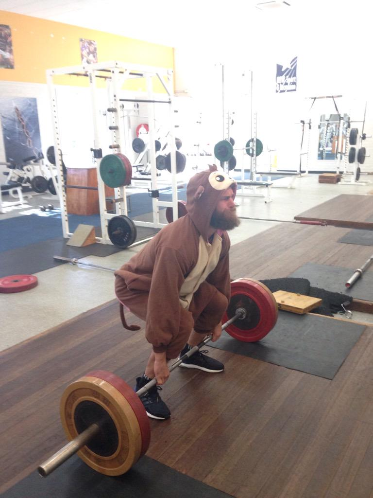 Barry Baboon working hard on those glorious gluts of his #WildOnesie @WWF_Australia @WWF https://t.co/fLzY8Y1WsV http://t.co/l2ffLAgd9U