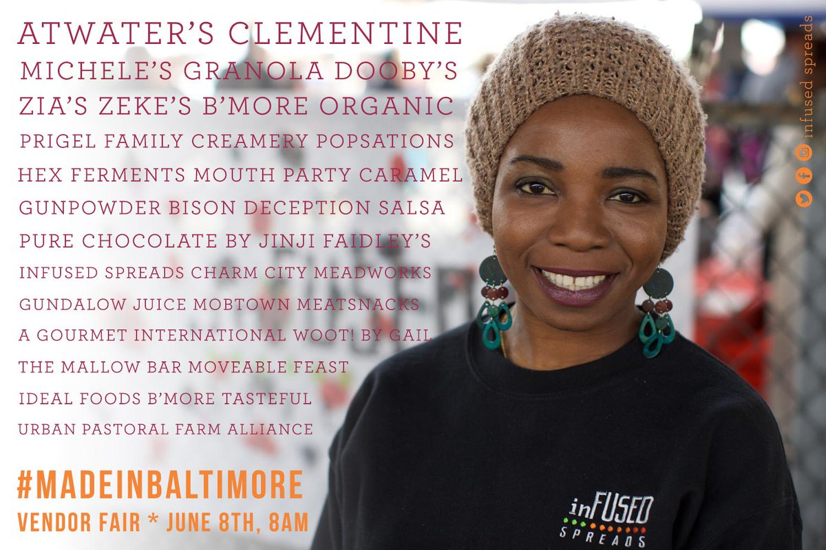 This upcoming Monday, the first #madeinBaltimore Vendor Fair will be at @LexMarketBmore // cc @amcomtrust @cityseeds http://t.co/L4vyKLOXxw