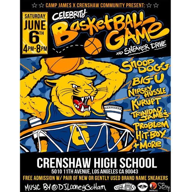 Celebrity Basketball Game & Sneaker Drive w/ @SnoopDogg, @NipseyHussle, @TrinidadJamesGG,… http://t.co/mOhf6E27EC http://t.co/EQrX2YBF8B