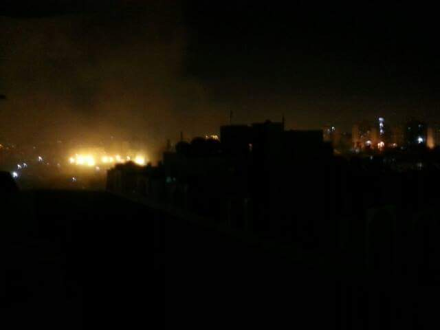 #breaking #photo: place that #Israel #F16 bombed near Al maqousi residential area minutes ago.#Gaza #GazaUnderAttack http://t.co/rVPodT05zZ
