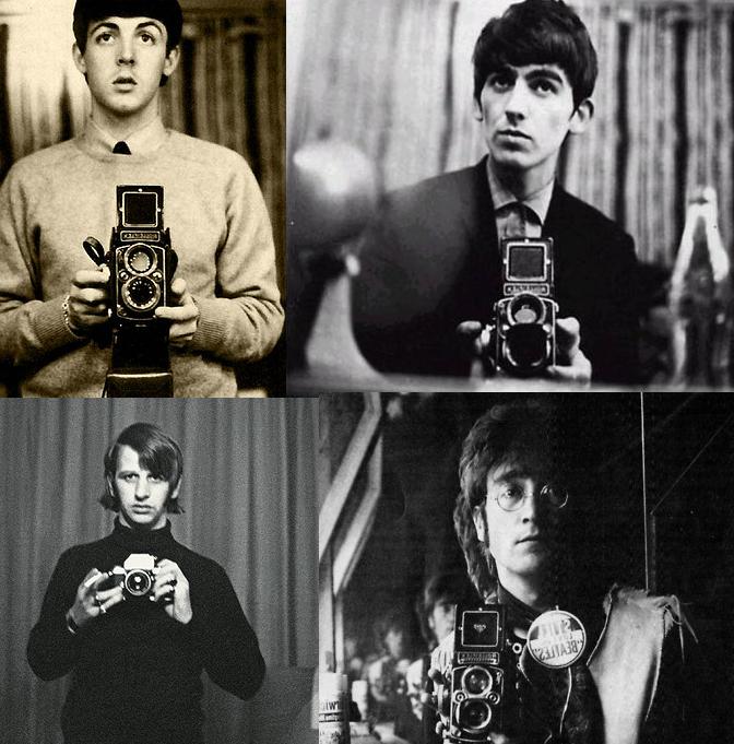 The Beatles taking selfies before it was cool. http://t.co/2WaAR0rL9g
