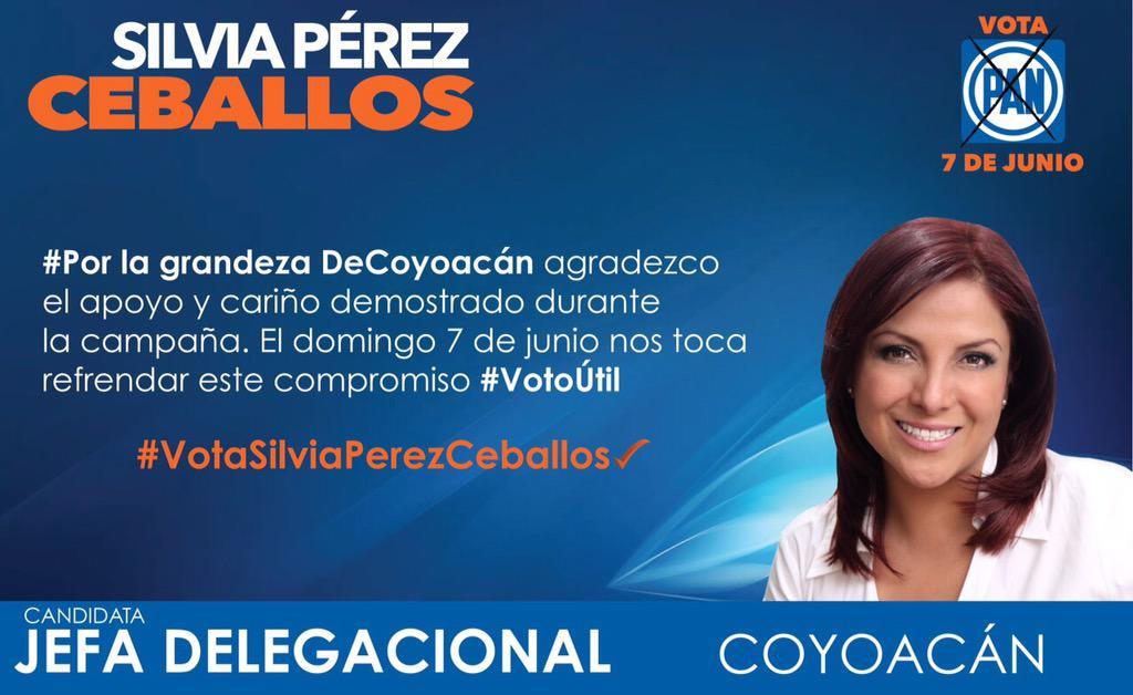 A todos de verdad ¡muchas gracias! Ha sido un honor y un gusto recorrer #Coyoacán con ustedes. El #7DeJunio #VotaPAN http://t.co/ntFx5Dfs9I