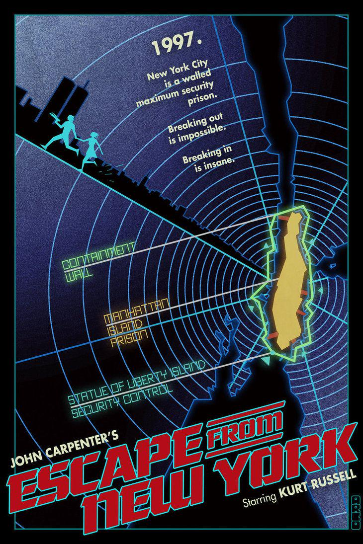 ESCAPE FROM NEW YORK (1981) by John Carpenter @TheHorrorMaster #scifi #horror 2 #poster http://t.co/IlVai9qa3s @AwesomeBMovies_ @Dr_Giallo