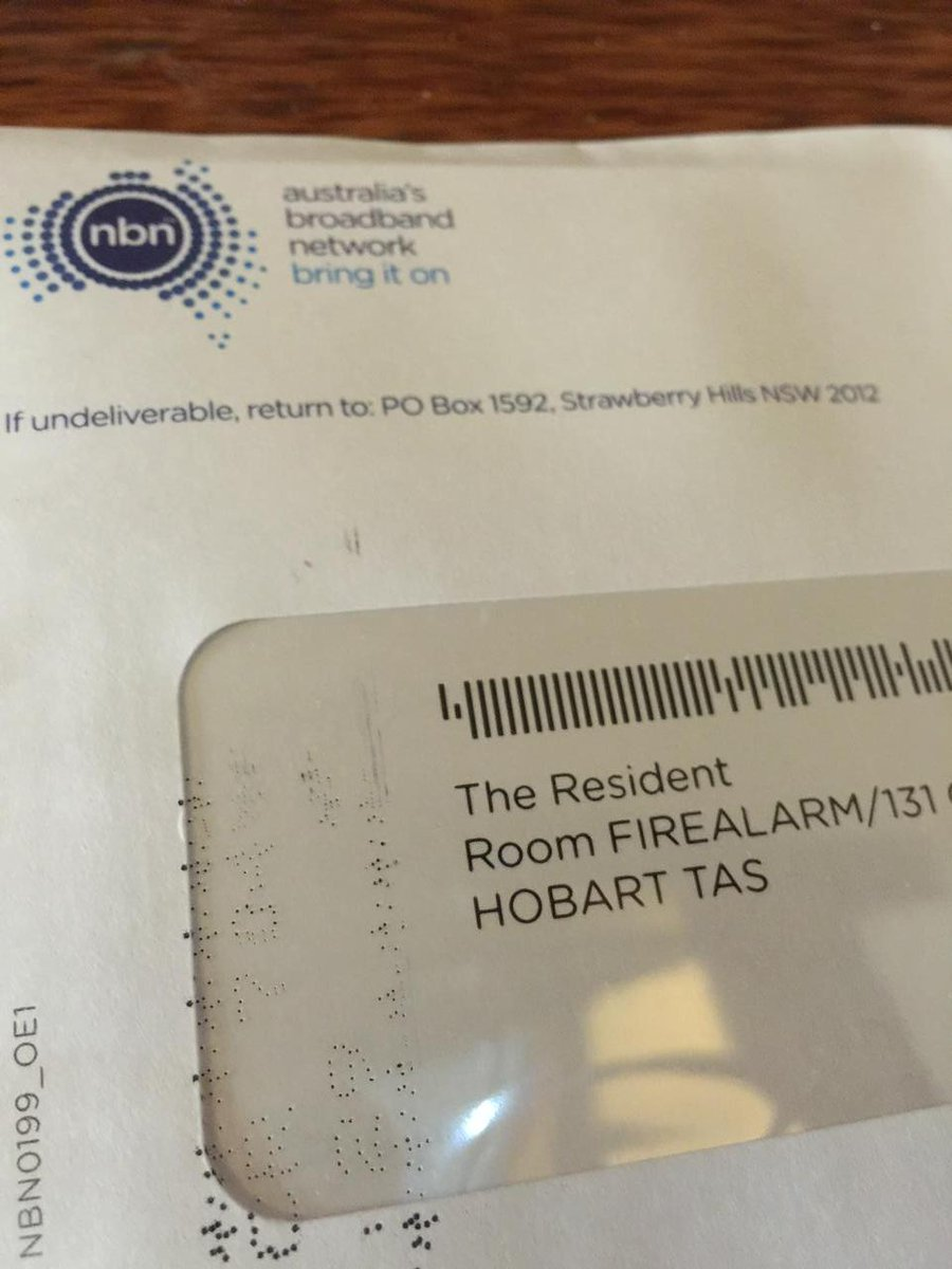 NBN sent a letter to the resident of the fire alarm cupboard in @thesecretlab building http://t.co/vRmlQhWSZw