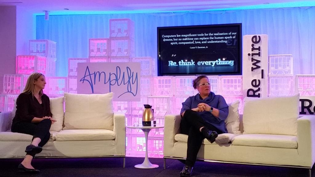 "@heathermcgowan #AmplifyFest ""Keep learning. The idea that you're going to do what you're trained to do is outdated."" http://t.co/AVLGMwu4nF"