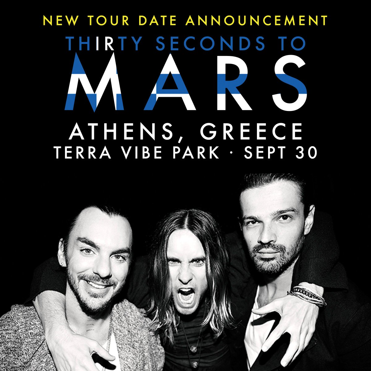 RT @30SECONDSTOMARS: NEWSFLASH: MARS IS COMING TO ATHENS, GREECE SEPT 30! Tix on sale JUNE 5 10:00 local time! → https://t.co/A3Vn5XRfyw ht…