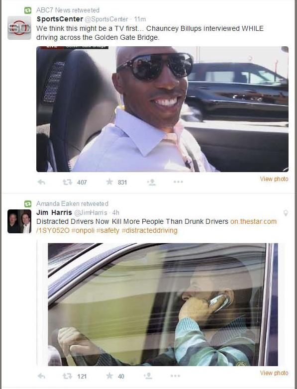 Hell of a juxtaposition on my timeline this morning. #VisionZero http://t.co/jpjDC1Loo1